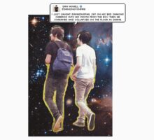 Dan and Phil galaxy + iconic tweet by dpstuff