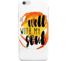 it is well with my soul cup stain watercolor iPhone Case/Skin