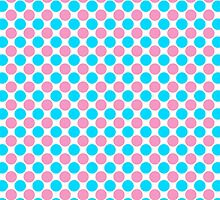 Teal Pink and White Polka Dots by BeachBumFamily