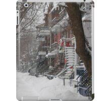 Montreal Winter Scene iPad Case/Skin