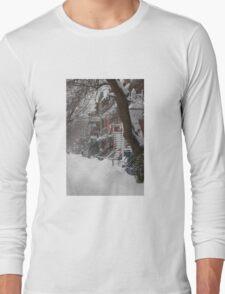Montreal Winter Scene Long Sleeve T-Shirt