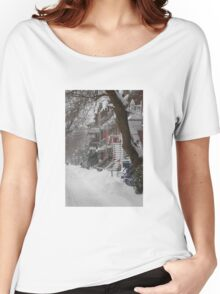 Montreal Winter Scene Women's Relaxed Fit T-Shirt