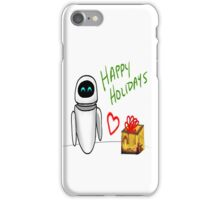 Happy Holidays from Wall-e and Eve iPhone Case/Skin