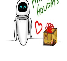 Happy Holidays from Wall-e and Eve by bassgirl27