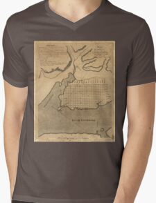Vintage Map of Alexandria Virginia (1798) Mens V-Neck T-Shirt
