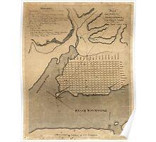 Vintage Map of Alexandria Virginia (1798) Poster