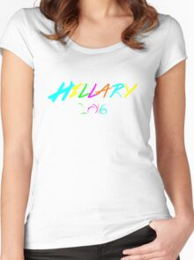 Hillary Clinton for President 2016 Election T Shirt Women's Fitted Scoop T-Shirt