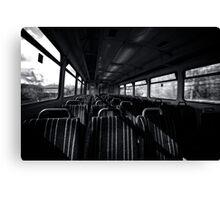 Empty Train Carriage - Mono Canvas Print