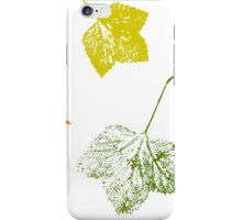 Currant leaves iPhone Case/Skin