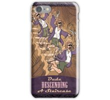Dude Descending A Staircase with Title iPhone Case/Skin