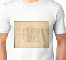 Vintage Map of Alexandria Virginia (1862) Unisex T-Shirt