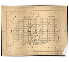 Vintage Map of Alexandria Virginia (1862) Poster