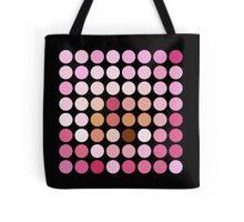 Pink Polka Dot Pattern On Black - 1 of 2 (see description) Tote Bag