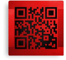 QR Codes - Code Red Canvas Print
