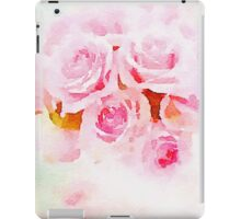 Water color painting,pink roses iPad Case/Skin