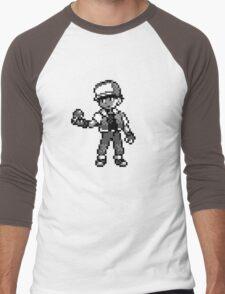 Red (Trainer) - Pokemon Red & Blue Men's Baseball ¾ T-Shirt