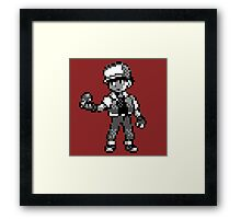 Red (Trainer) - Pokemon Red & Blue Framed Print
