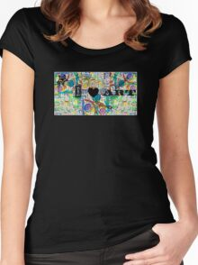 I Love Art Women's Fitted Scoop T-Shirt
