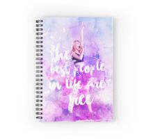 THE BEST PEOPLE IN LIFE ARE FREE Spiral Notebook