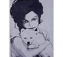 Janet Jackson (Pointillism) Photographic Print