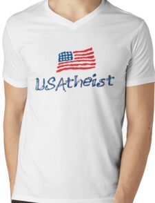 USAtheist - Proud American Atheist Mens V-Neck T-Shirt