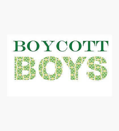 Boycott Boys Photographic Print