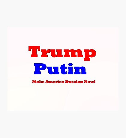 Trump Putin  Photographic Print