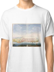 Vintage Pictorial Map of Macau China (1665) Classic T-Shirt