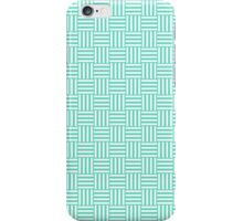 Tiffany Aqua Blue and White Basket Weave iPhone Case/Skin