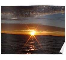 Sunrise/New Day; Marina Del Rey, CA USA; Going Fishing Poster