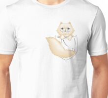 Persian kitty pocket -colored line-  Unisex T-Shirt