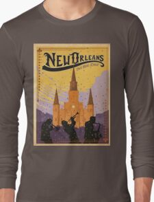 Vintage poster - New Orleans Long Sleeve T-Shirt