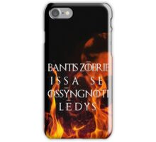 The night is dark and full of terrors iPhone Case/Skin