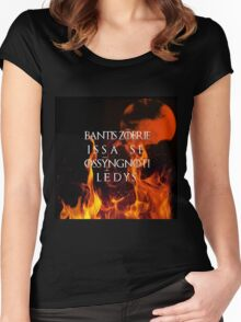 The night is dark and full of terrors Women's Fitted Scoop T-Shirt