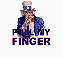 Funny Uncle Sam I Want You - Pull My Finger Protest Joke Cartoon Farting Parody Unisex T-Shirt