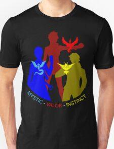 POKEMON GO TEAM INSTINCT, VALOR, MYSTIC, TRAINER T-SHIRT Unisex T-Shirt