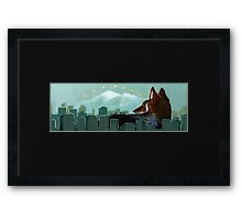 Coyote Skyline Framed Print