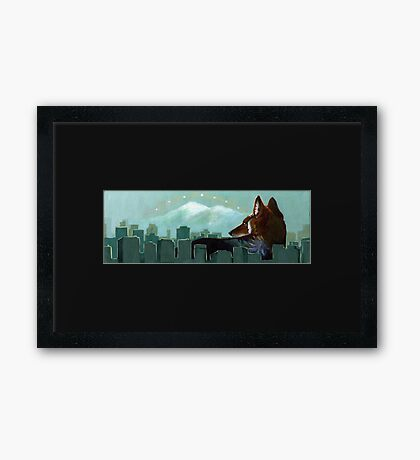 Coyote Skyline Framed Print