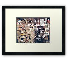 Trapped in a Library Framed Print