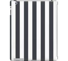 Dark Gray and White Large Large Vertical Cabana Tent Stripe iPad Case/Skin