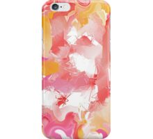 Abstract in red, yellow, pink, and white iPhone Case/Skin