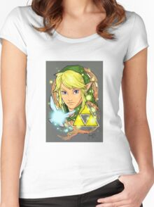 Legend Of Zelda Tattoo Women's Fitted Scoop T-Shirt