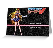 Sailor V Game Start Screen Greeting Card