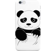 Simple panda pocket design iPhone Case/Skin