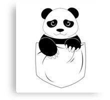 Simple panda pocket design Canvas Print