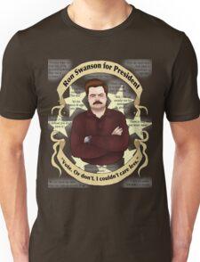 Ron Swanson Sans Serif Unisex T-Shirt