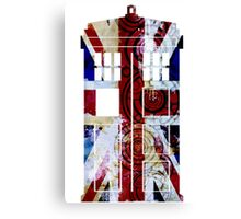 Union Jack TARDIS with Gallifreyan  Canvas Print