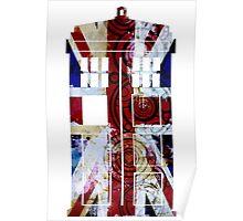 Union Jack TARDIS with Gallifreyan  Poster