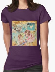 Vintage traveling design Womens Fitted T-Shirt