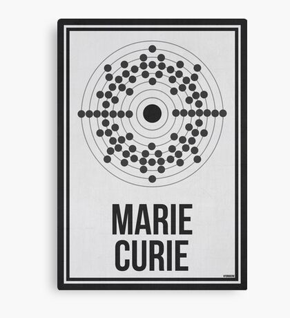 MARIE CURIE - Women in Science Wall Art Canvas Print